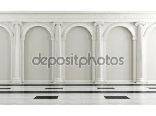 Фотообои «Black and white classic interior»