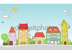 Фотообои «Cartoon street»