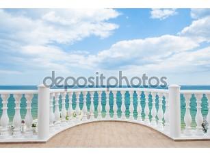 Фотообои «Balcony view on the sea shore»