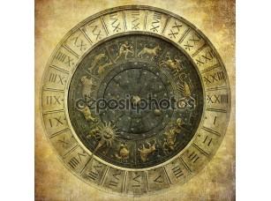 Фотообои «Vintage image of Venetian clock»