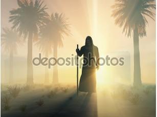 Фотообои «Блуждающих монах на рассвете»