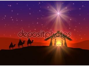Фотообои «христианский рождественский фон со звездой»