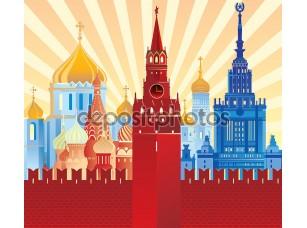Фотообои «изображение Москвы»