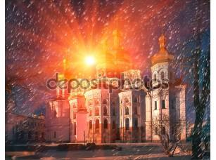 Фотообои «Киево-Печерская Лавра на рассвете»