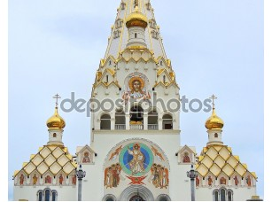Фотообои «Orthodox Cathedral of all Saints in the city of Minsk in Belarus.»