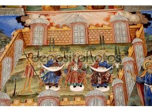 Фотообои «Фрески православной церкви. Рильский монастырь Болгарии»
