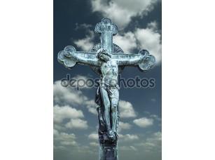 Фотообои «Скульптура распятие Иисуса Христа»
