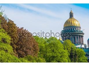Фотообои «Сэйнт Исаакиевский собор в Санкт-Петербурге, Россия»