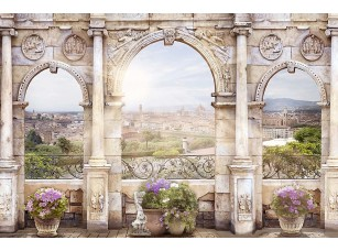 Фотообои «Арка с видом на город»