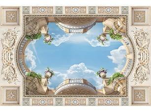 Фотообои «Вид на небо сквозь световое окно»