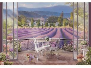 Фотообои «Вид с балкона на лавандовые поля»