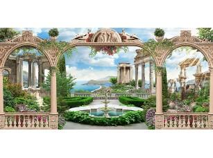 Фотообои «Аркада с фонтаном в центре»