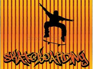 Фотообои «Skataboarding фон»
