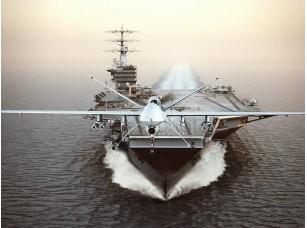 Фотообои «Военные самолеты Drone Пуск с самолета-носителя на забастовки миссии»
