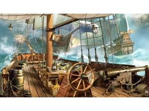 Фотообои «Вид с палубы пиратского корабля»