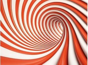 Фотообои «Абстрактный красный тоннель»