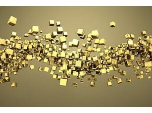 Фотообои «Абстрактные золотые кубы»