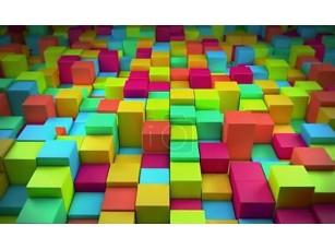 Фотообои «Абстрактный красочных кубиков»