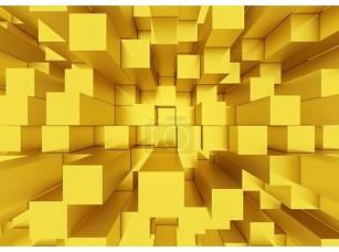 Фотообои «абстрактный мозаичный фон кубы желтые»
