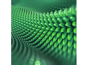 Фотообои «Абстрактные 3d колючий фон, компьютерная графика, зеленый»