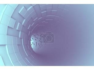 Фотообои «Абстрактные 3d-рендеринга футуристический туннель голубой»