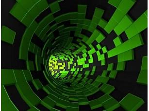 Фотообои «Абстрактные 3d-рендеринга футуристический туннель зеленый»