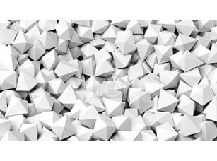 Фотообои «3D белый многогранников кучу абстрактный фон»