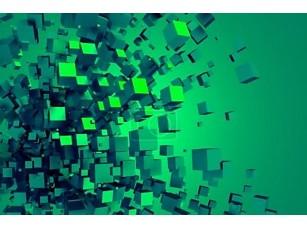 Фотообои «Абстрактные 3d-рендеринга хаотических кубов»