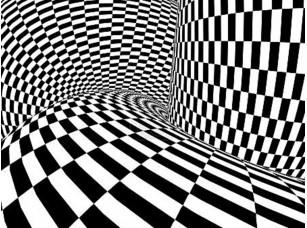 Фотообои «абстрактная иллюзия чб»