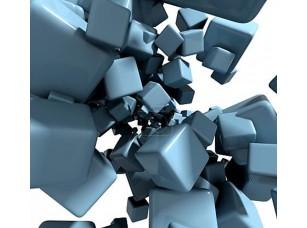 Фотообои «3-й абстрактный фон с синими кубами»