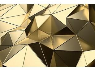 Фотообои «Абстрактные 3d-рендеринга поверхности золота низкой поли»