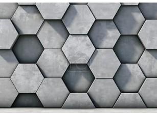 Фотообои «Абстрактный фон из бетонных шестиугольников»