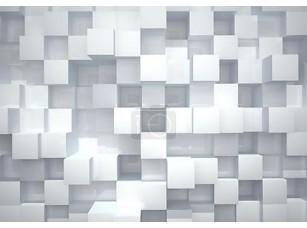 Фотообои «Абстрактный фон из белых глянцевых кубов»