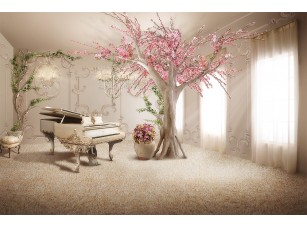 Фотообои «Комната с роялем»
