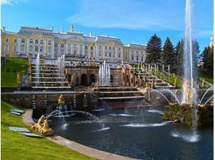 Фотообои «Большой дворец и большой Каскад в Петергофе, Россия»