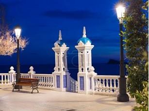 Фотообои «Бенидорм закат mediterraneo balcon Аликанте в Испании»