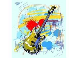 Фотообои «Абстрактные гитара»