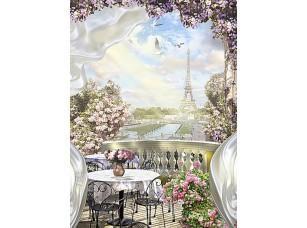 Фотообои «Вид на Париж с балкона»