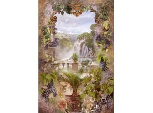 Фотообои «Абстрактная арка и водопад»