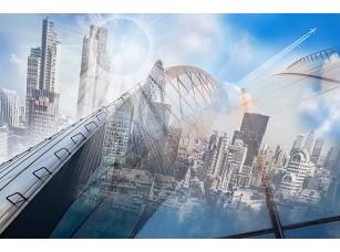 Фотообои «Абстрактный вид на мегаполис»