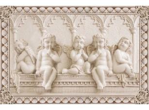 Фотообои «Барельеф с ангелочками»