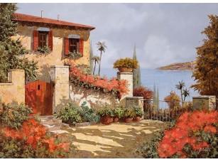 Фотообои «Дворик с видом на залив»