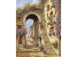 Фотообои «Улочка арка и лестница»