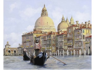 Фотообои «Гондольеры в Венеции»