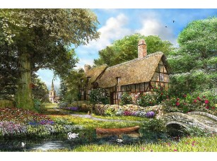 Фотообои «Дом в парке у реки»