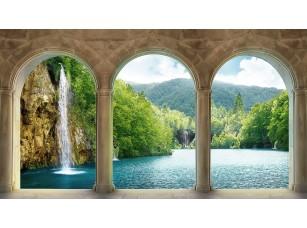 Фотообои «Вид на водопад из аркады»