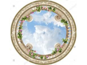 Фотообои «Вид на круглую балюстраду снизу»