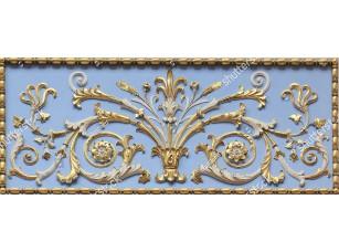 Фотообои «Архитектурный элемент растительного орнамента с позолотой»