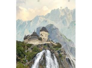 Фотообои «Водопад у замка»