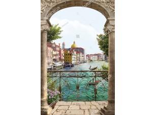Фотообои «Вид на Венецию сквозь арку»